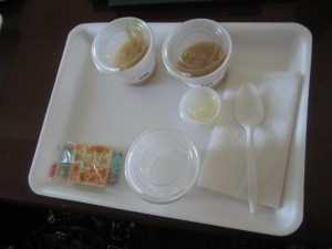 Tray of samples for cinnamon taste test