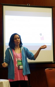 Fitbloggin Live Blog Diana discussing HTML and CSS