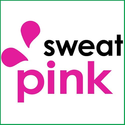 Sweat Pink FitBloggin logo
